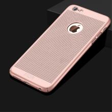 Kryt MOFi pro Apple iPhone 6 / 6S - perforovaný / s otvory - plastový - Rose Gold růžový
