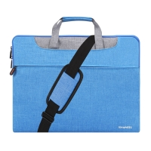 "Pouzdro se zipem HAWEEL pro Apple MacBook Pro 15"" / Pro 16"" - postranní kapsa a ucha - modré"