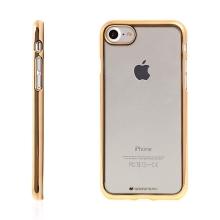 Kryt Mercury Ring 2 pro Apple iPhone 7 / 8 gumový - průhledný / zlatý rámeček