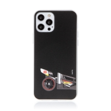 Kryt HOT WHEELS - pro Apple iPhone 12 Pro Max - gumový - formule - černý
