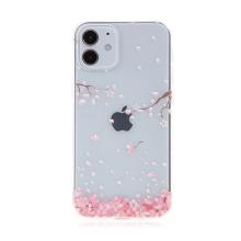 Kryt pro Apple iPhone 12 mini - gumový - kvetoucí sakury