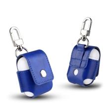 Pouzdro / obal pro Apple AirPods - s karabinou - tmavě modré
