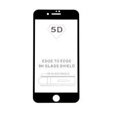 "Tvrzené sklo (Tempered Glass) ""5D"" pro Apple iPhone 7 Plus / 8 Plus - 2,5D - černý rámeček - čiré - 0,3mm"