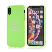 Kryt ADIDAS Originals pro Apple iPhone Xr - gumový - látkový - svítivě zelený
