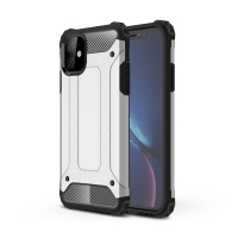Kryt pro Apple iPhone 11 Pro Max - odolný - plastový / gumový - stříbrný