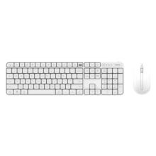 Myš optická bezdrátová + klávesnice Bluetooth XIAOMI Youpin Miiw - AAA baterie - bílé