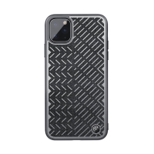 Kryt NILLKIN Herringbone pro Apple iPhone 11 Pro - reflexní prvky - gumový / látkový - šedý