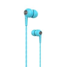 Sluchátka DEVIA s mikrofonem pro Apple iPhone / iPad / iPod a další zařízení - modrá