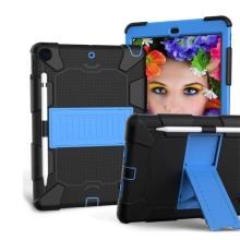 "Kryt / pouzdro pro Apple iPad 10,2"" - outdoor - odolný - se stojánkem - plastový / silikonový - černý / modrý"
