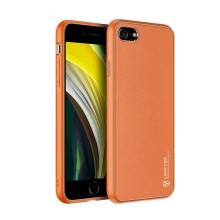 Kryt DUX DUCIS Yolo pro Apple iPhone 7 / 8 / SE (2020) - umělá kůže - oranžový / zlatý
