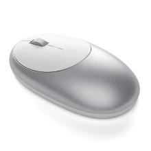 Myš optická bezdrátová SATECHI - Bluetooth 5.0 - USB-C nabíjení - stříbrná / bílá