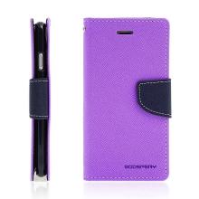 Pouzdro Mercury Fancy Diary pro Apple iPhone 7 / 8 - stojánek a prostor na doklady - fialové / modré
