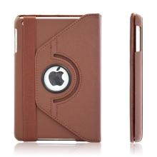 Pouzdro / kryt pro Apple iPad mini / mini 2 / mini 3 - 360° otočný držák - hnědé
