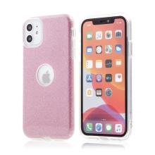 Kryt FORCELL Shining pro Apple iPhone 11 - výřez pro logo - plastový / gumový - růžový