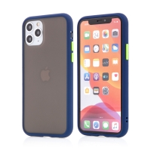 Kryt pro Apple iPhone 11 Pro Max - guma / plast - barevná tlačítka - tmavě modrý