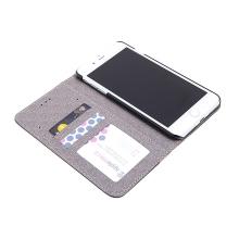 Pouzdro pro Apple iPhone 7 Plus / 8 Plus - stojánek + prostor pro platební karty - motiv dřeva / palisandr