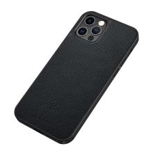 Kryt SULADA pro Apple iPhone 12 / 12 Pro - podpora MagSafe - umělá kůže - černý