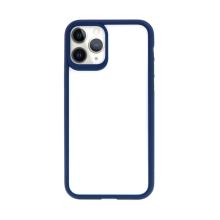Kryt USAMS Janz pro Apple iPhone 11 Pro Max - plastový / gumový - průhledný / modrý