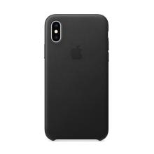 Originální kryt pro Apple iPhone Xs - kožený - černý