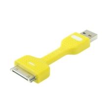 Mini synchronizační a nabíjecí kabel USB s 30-pin konektorem pro Apple iPhone / iPad / iPod - žlutý