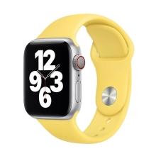 Originální řemínek pro Apple Watch 45mm / 44mm / 42mm - silikonový - zázvorově žlutý