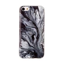 Kryt pro Apple iPhone 5C - mramorová textura - gumový - černý / bílý