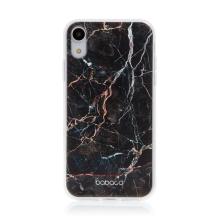 Kryt BABACO pro Apple iPhone Xr - gumový - černý mramor