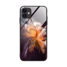 Kryt pro Apple iPhone 12 / 12 Pro - skleněný / gumový - mlhovina