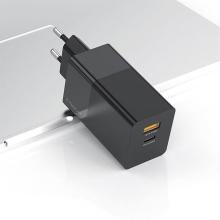 Nabíječka / EU adaptér KUULAA pro Apple zařízení - USB-C / USB - 65W (PD 3.0) - černá