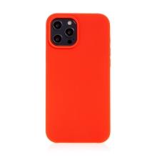 Kryt pro Apple iPhone 12 / 12 Pro - gumový - příjemný na dotek - červený