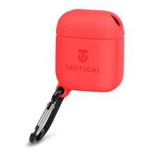 Pouzdro / obal TACTICAL pro Apple AirPods - karabina - silikonové - červené