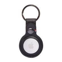 Kryt / obal DECODED pro Apple AirTag - kovový kroužek - kožený - černý