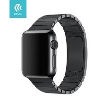 Řemínek DEVIA pro Apple Watch 44mm Series 4 / 5 / 6 / SE / 42mm 1 / 2 / 3 - nerezový - černý
