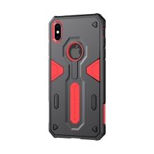 Kryt Nillkin pro Apple iPhone Xs Max - odolný - plast / guma - červený / černý