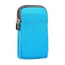 Brašna / pouzdro - multifunkční - popruh za opasek / přes rameno + karabina pro Apple iPhone - světle modrá
