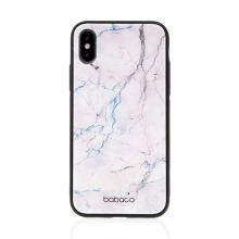 Kryt BABACO pro Apple iPhone X / Xs  - skleněný - růžový mramor