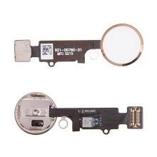 Obvod tlačítka Home Button pro Apple iPhone 7 / 7 Plus - bílé / zlaté - kvalita A+