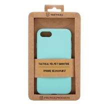 Kryt TACTICAL Velvet Smoothie pro Apple iPhone 7 / 8 / SE (2020) - příjemný na dotek - silikonový - azurově modrý