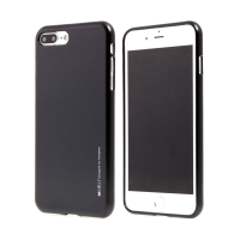 Kryt MERCURY iJelly pro Apple iPhone 7 Plus / 8 Plus - gumový - černý - matný