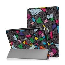 """Pouzdro / kryt pro Apple iPad Pro 10,5"""" / Air 10,5"""" (2019) - funkce chytrého uspání + stojánek - barevné tvary"""