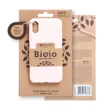 Kryt FOREVER BIOIO - pro Apple iPhone X / Xs - Zero Waste kompostovatelný kryt - růžový