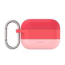 Pouzdro / obal BASEUS pro Apple AirPods Pro - silikonové - barevný přechod - růžové