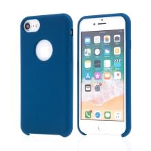 Kryt pro Apple iPhone 7 / 8 - gumový - příjemný na dotek - výřez pro logo - tmavě modrý