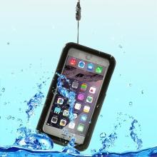 Voděodolné plasto-silikonové pouzdro pro Apple iPhone 6/ 6S Plus / 7 / 8 Plus - černo-průhledné