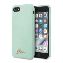 Kryt GUESS Retro pro Apple iPhone 7 / 8 / SE (2020) - silikonový - mátově zelený