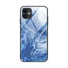 Kryt pro Apple iPhone 12 / 12 Pro - skleněný / gumový - mořská pěna