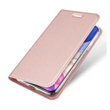 Pouzdro DUX DUCIS pro Apple iPhone 11 - stojánek + prostor pro platební kartu - Rose Gold růžové