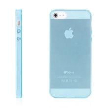Kryt pro Apple iPhone 5 / 5S / SE (tl. 0,5mm) - antiprachová záslepka - průhledný - modrý