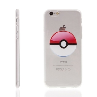 Kryt pro Apple iPhone 6 Plus / 6S Plus gumový - Pokemon Go / Pokeball - červený