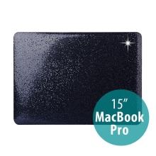 Obal / kryt pro Apple Macbook Pro 15 (2016 / 2017) - plastový - černé třpytky